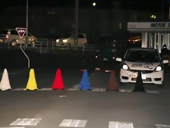 夜間視認性検証の写真